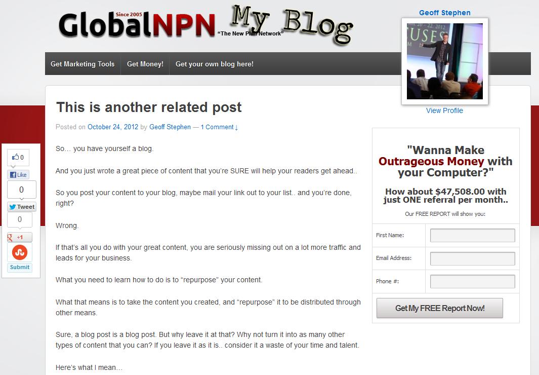 500 Reasons To Blog at Global NPN