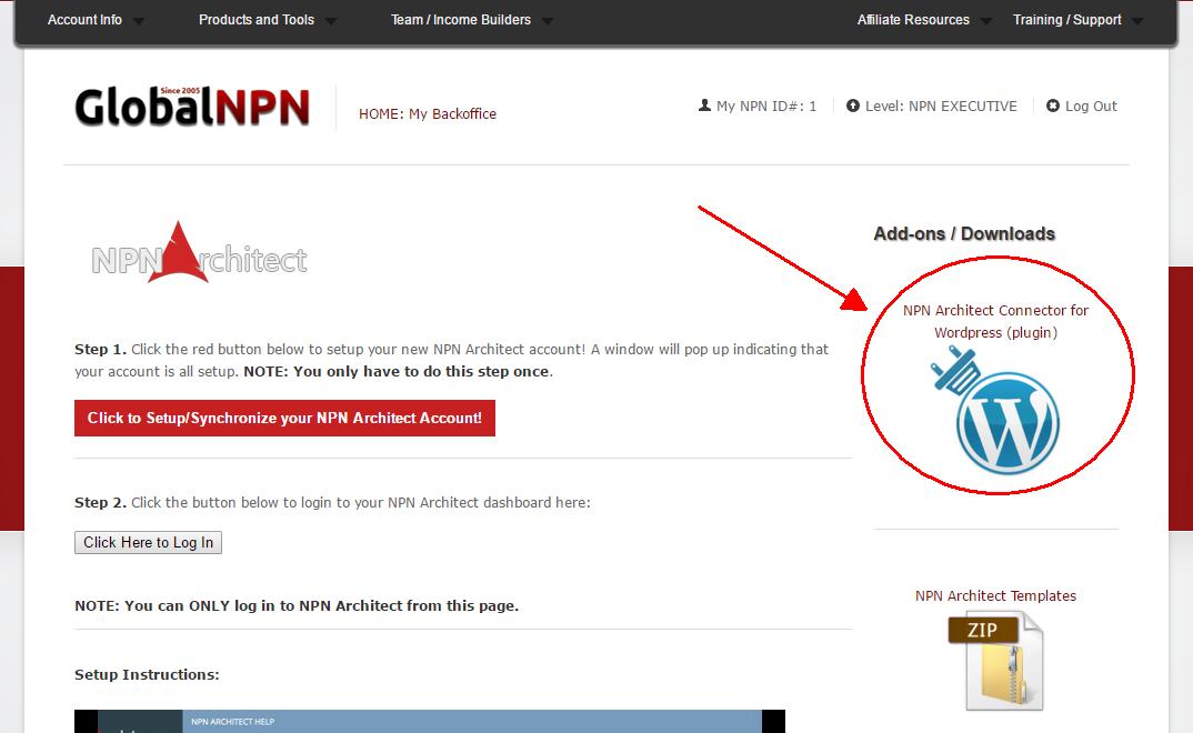 Global NPN WordPress Plugin